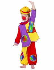 Disfraz de payaso multicolor bebé