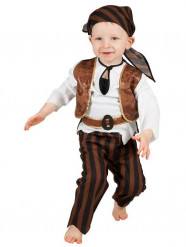 Disfraz de pirata marrón bebé