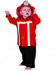 Disfraz de bombero rojo bebé