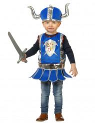 Disfraz de caballero vikingo azul bebé