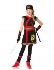 Disfraz ninja dragón dorado niña
