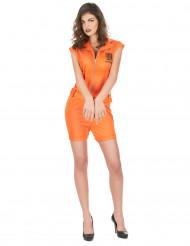 Disfraz prisionera sexy naranja mujer