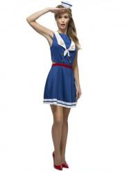 Disfraz de marinera sexy espalda abierta mujer