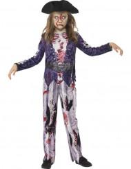 Disfraz zombie pirata niña Halloween