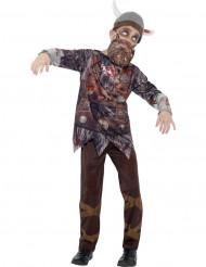Disfraz de vikingo zombie niño Halloween