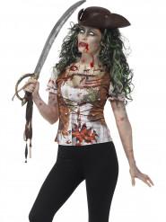 Disfraz de pirata zombie mujer