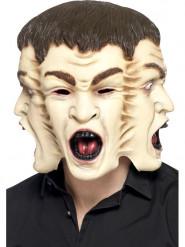Máscara de 3 rostros adulto Halloween