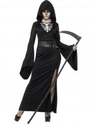 Disfraz de segadora negra mujer Halloween