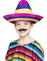 Sombrero mexicano multicolor niño