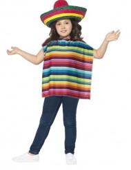 Poncho y sombrero mexicano niño