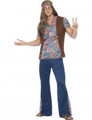 Disfraz hippie peace azul hombre
