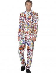 Traje Mr Groovy multicolor hombre