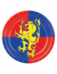 8 Platos medievales 23 cm