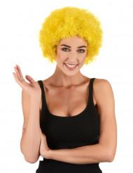 Peluca afro payaso amarillo clásica adulto