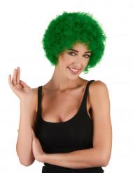 Peluca verde afro payaso clásica adulto