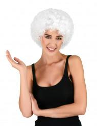 Peluca afro / payaso blanca estándar adulto