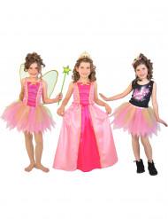 Disfraz 3 en 1 princesa hada y estrella del pop caja niña