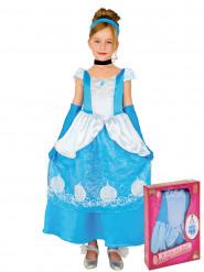 Disfraz de princesa azul niña caja