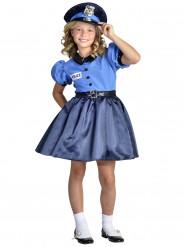 Disfraz vestido de policía niña