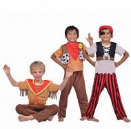 Disfraz 3 en 1 pirata sheriff indio niño