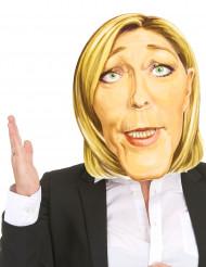 Máscara de cartón Marine Le Pen adulto