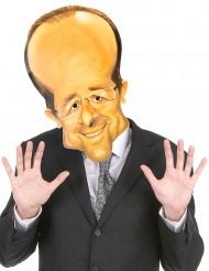Máscara de cartón François Hollande adulto