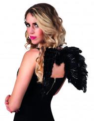 Alas ángel negro 48x35 cm adulto