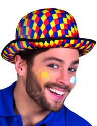 Sombrero bombín multicolor payaso adulto