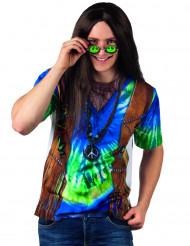 Camiseta hippie azul hombre
