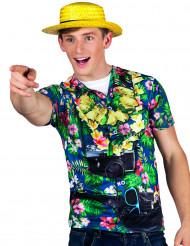 Camiseta turista hawaiana hombre
