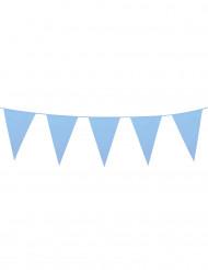 Guirnalda banderines gigantes azul cielo 10 m