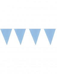Guirnalda 20 banderines azul cielo 10 m