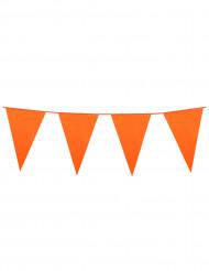 Guirnalda banderines naranjas 10 m