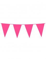 Guirnalda de banderines rosas 10 m