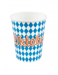 6 Vasos de cartón Oktoberfest 250 ml