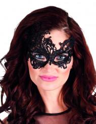 Antifaz de encaje negro sexy mujer