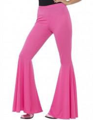 Pantalón disco rosa mujer