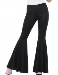 Pantalón disco negro mujer