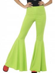 Pantalón disco verde mujer