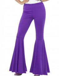 Pantalón disco violeta mujer