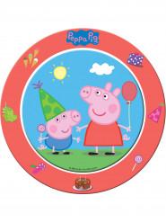 8 Platos cartón Peppa Pig™ 23 cm
