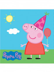 20 Servilletas papel Peppa Pig™ 33x33 cm