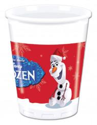 8 Vasos de plástico Olaf Christmas™ 200ml