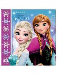 20 Servilletas papel Frozen copos™ 33 cm