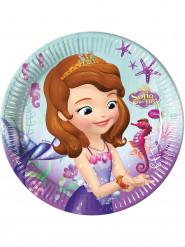 8 Platos de cartón Princesa Sofía™ 23 cm