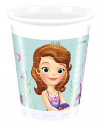 8 Vasos de plástico Princesa Sofía™ 200 ml