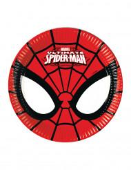 8 Platos pequeños de cartón Ultimate Spiderman™