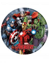 8 Platos de cartón Los Vengadores Ultimate Power™ 23 cm