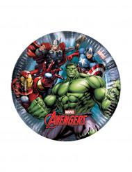 8 Platos pequeños Los Vengadores Ultimate Power™ 19,5 cm
