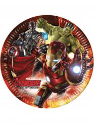 8 Platos de cartón Los Vengadores: La era de Ultron™ 23 cm